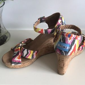TOMS Tribal Wedge Sandals
